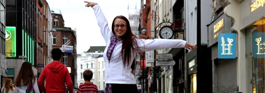 Dancing in Dublin on Grafton Street. Photo taken by Lauren Warnecke.