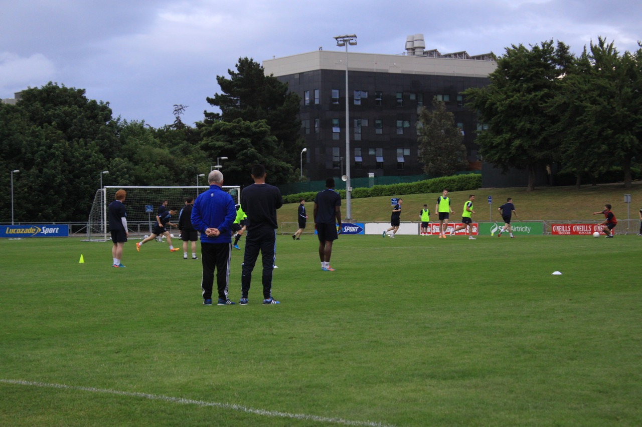 a photo essay soccer vs gaelic football study abroad  university college dublin soccer team coaches observing practice
