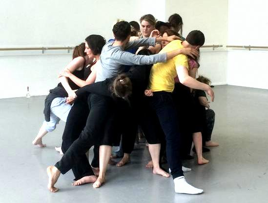 Weight sharing exercise during Choreographic Encounters Workshop. Photo taken by John Scott.