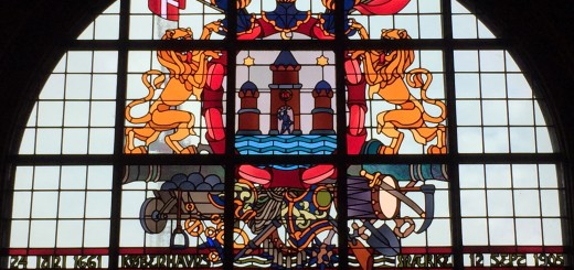 Stained glass window at the Copenhagen City Hall
